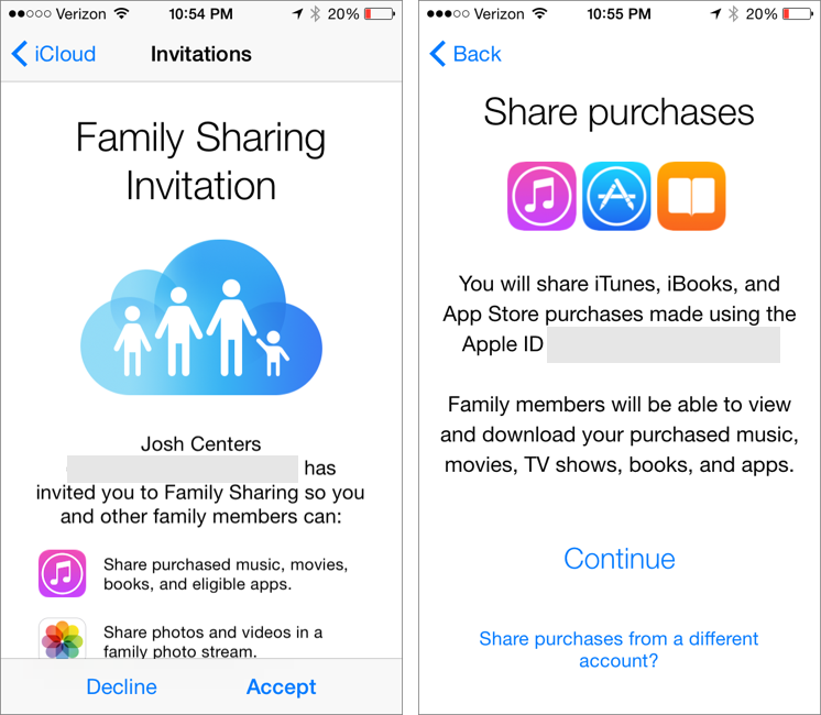 iCloud Storage with Family/Others