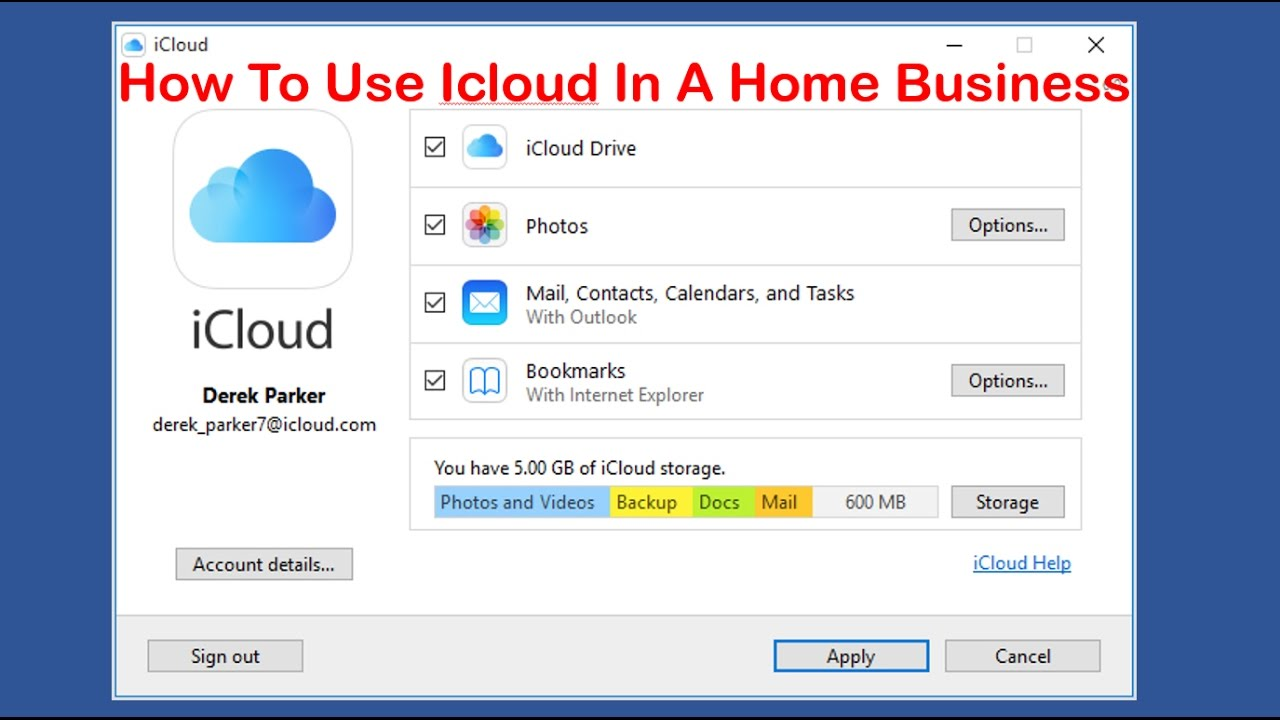 how to use iCloud in a home business